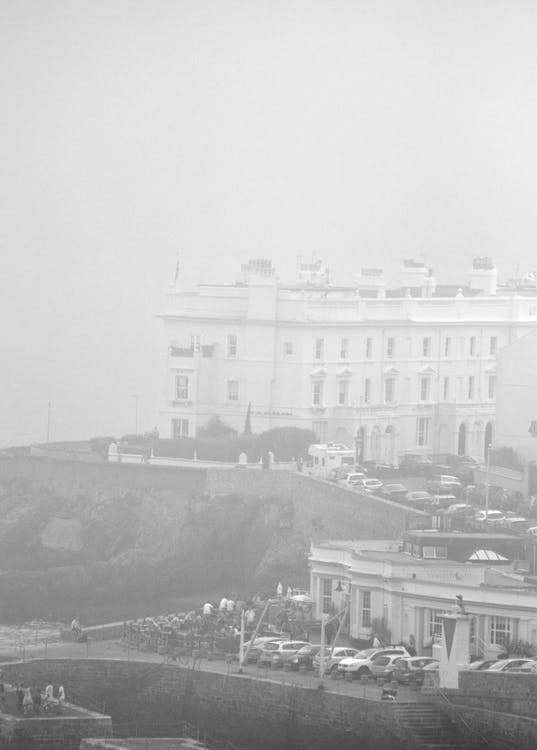 Free stock photo of cliff coast, foggy, seaside