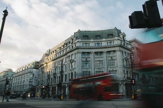 Free stock photo of city, traffic, street, blur