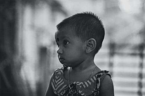 Free stock photo of asian, baby, black and white