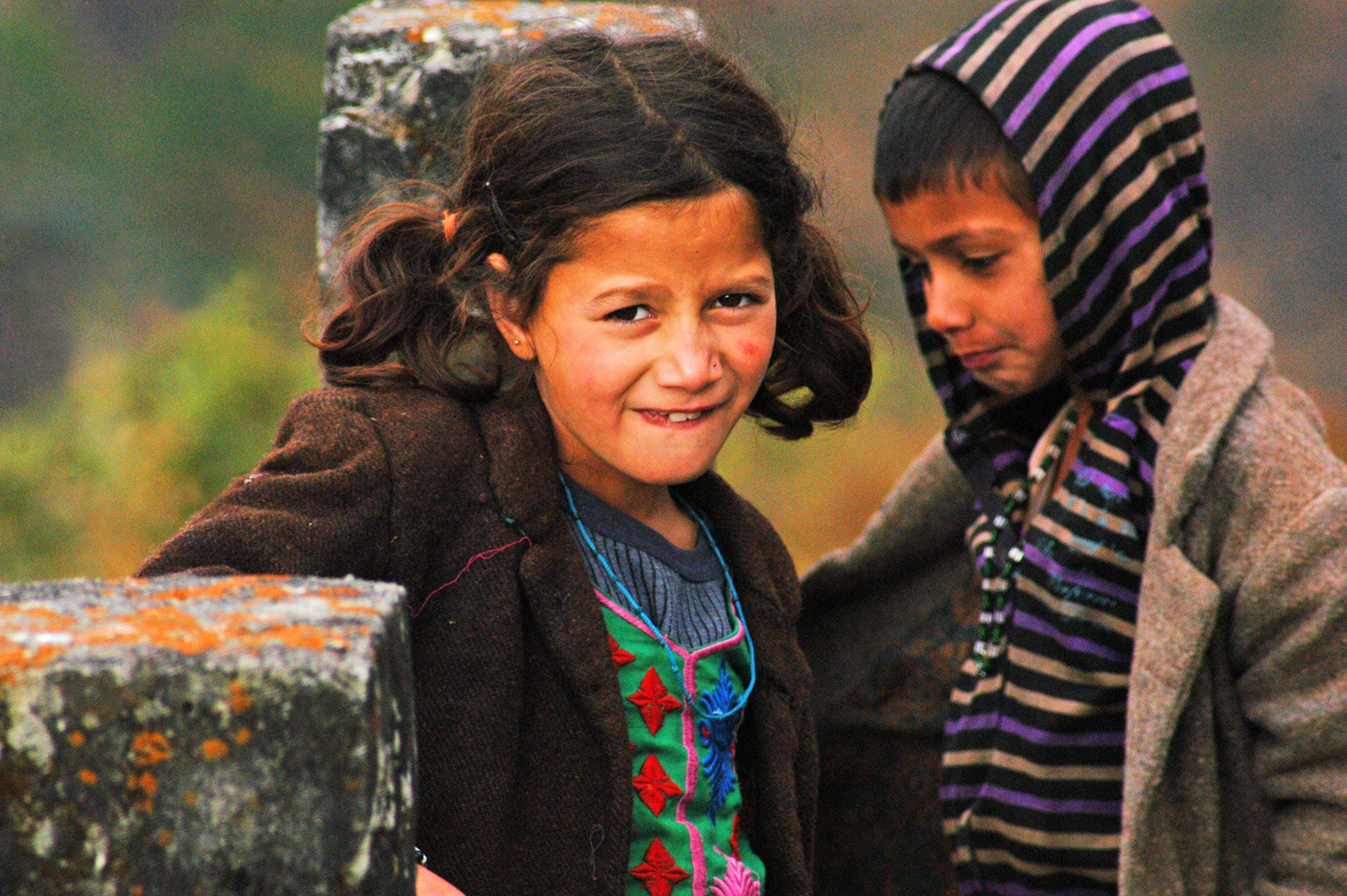 Free stock photo of boy, colorful, girl, himalayas