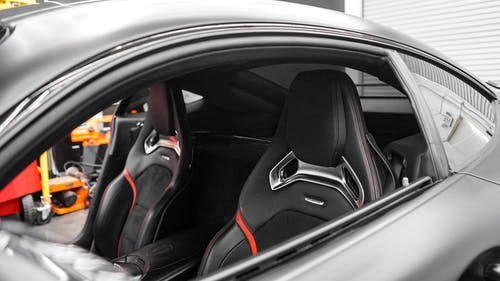 Black and Red Car Door