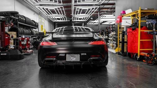 Black Bmw M 3 Parked in Garage