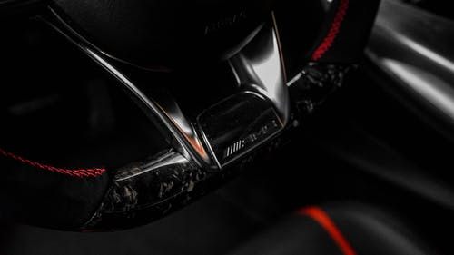 Black and Red Motorcycle Engine