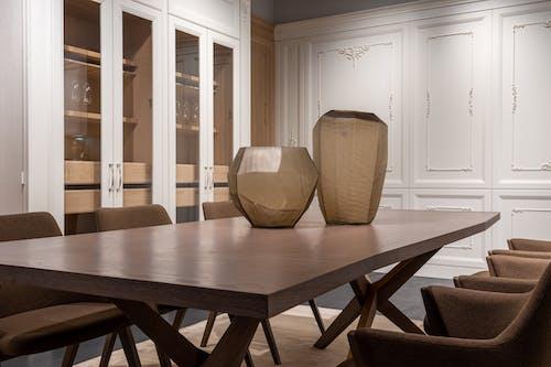 Stylish interior of modern light dining room