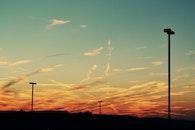 sunset, summer, golden hour
