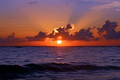 gün batımı, manzara, okyanus, plaj içeren Ücretsiz stok fotoğraf
