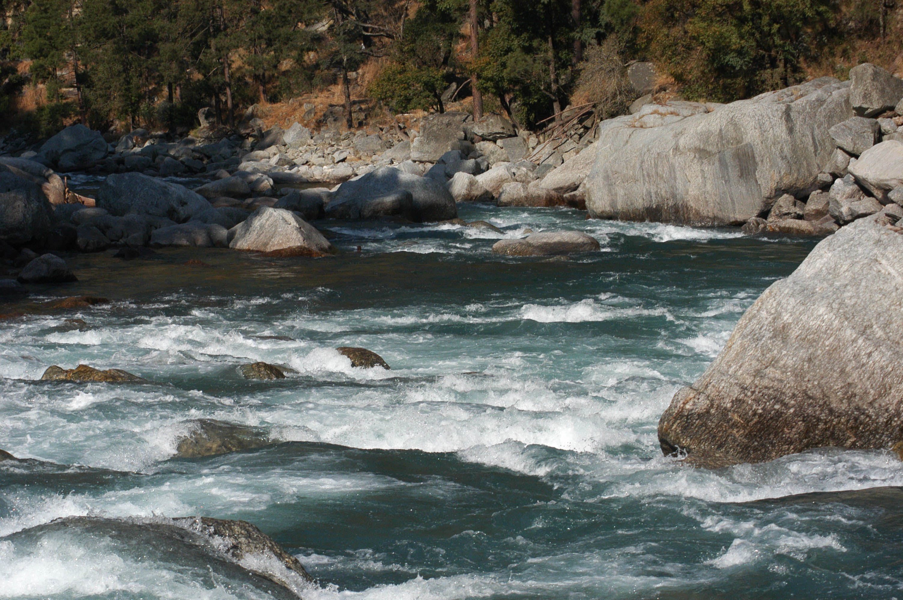 Free stock photo of blue waters, boulders, Himalayan River, himalayas