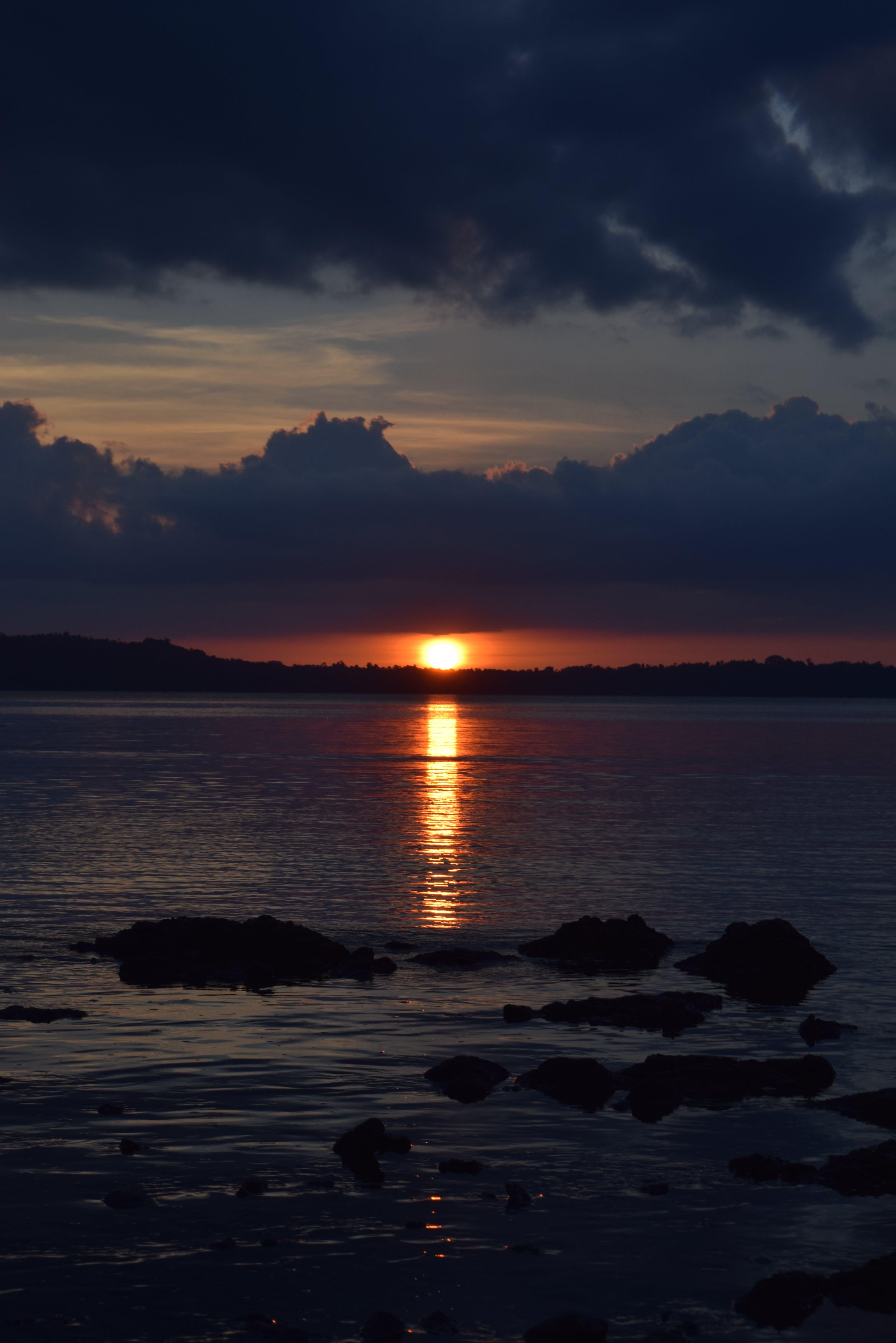 Free stock photo of clouds, daylight, deep sea, evening sun