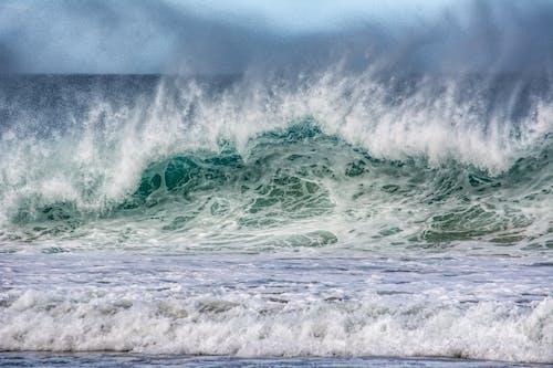 Beach Waves Crashing on the Shore