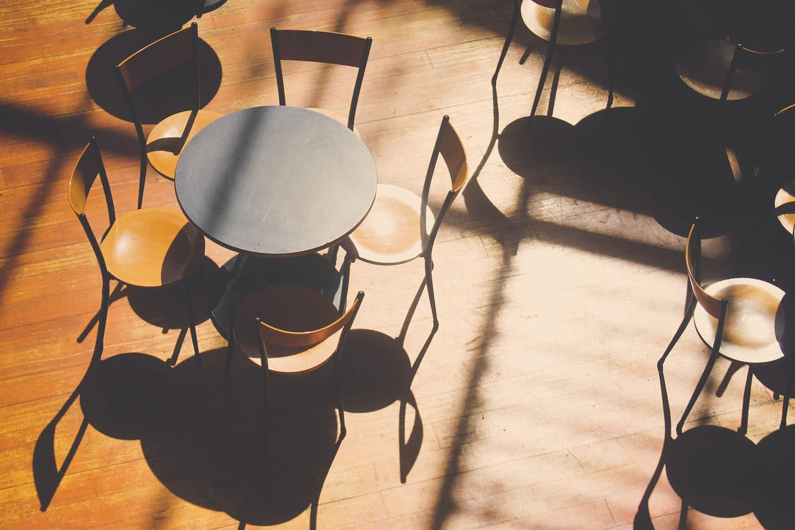 Round Black Table With Chairs Set