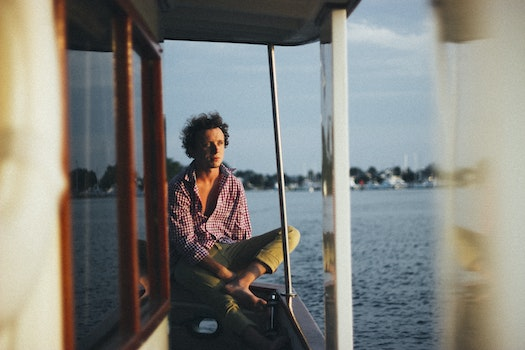 Free stock photo of sea, man, person, boat