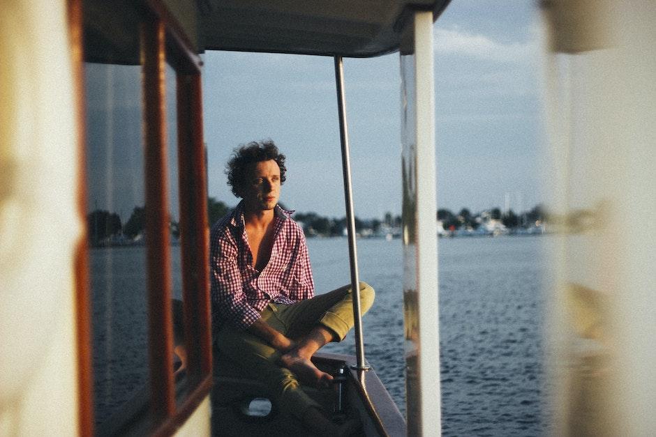boat, man, person