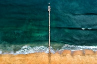 jetty, sea, bird's eye view