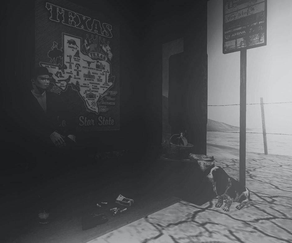 black and white, man
