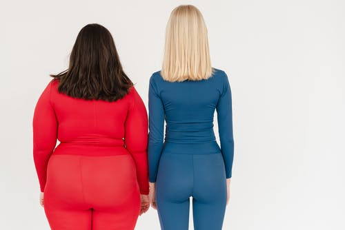 Unrecognizable women with different body types