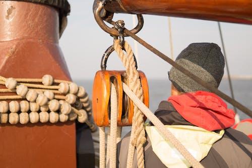 Immagine gratuita di barca, corda, mare, marinaio