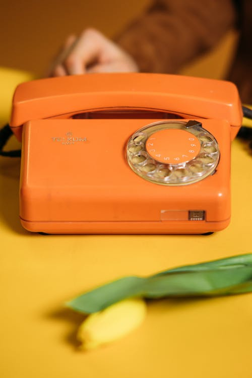 Brown Panasonic Corded Home Phone