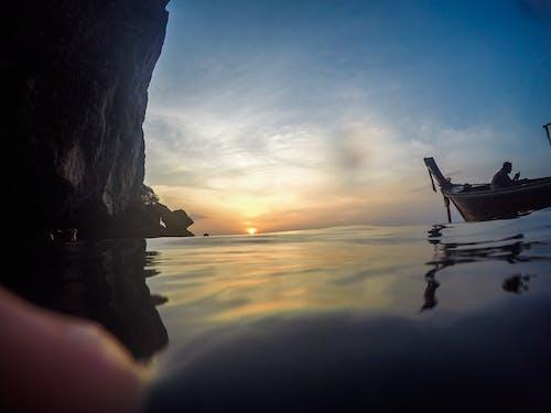 Kostnadsfri bild av båt, hav, himmel, Sol