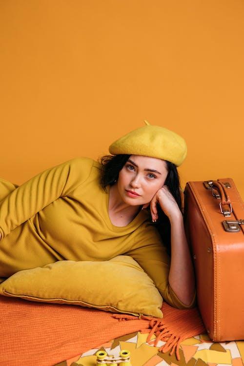 おしゃれ, オレンジ色, クラシックの無料の写真素材