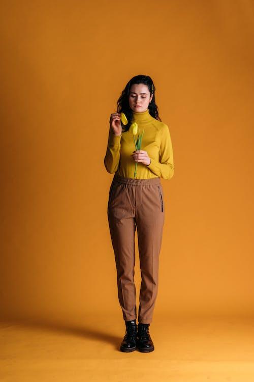 創意肖像, 咖啡色頭髮的女人, 女人 的 免費圖庫相片