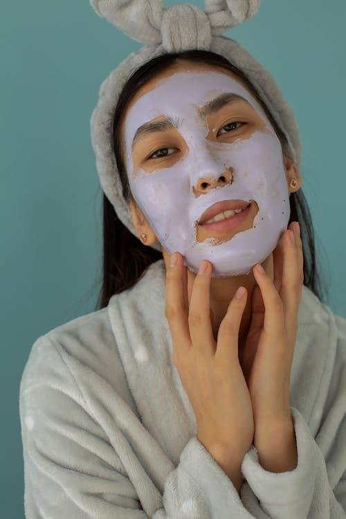 Asian woman with facial mask
