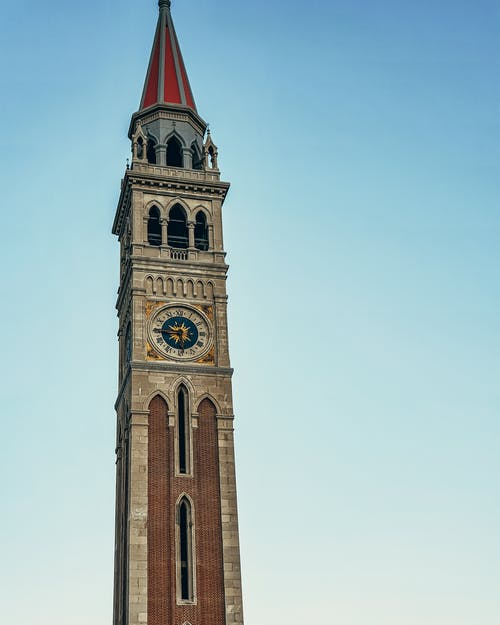 Free stock photo of bell tower, blue sky, clock