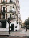 city, street, building