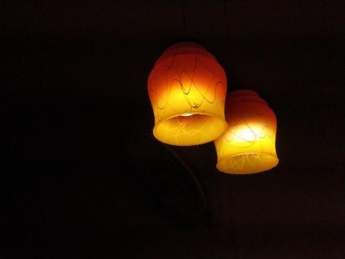 Free stock photo of ceiling lamp, lamp, twinlamp
