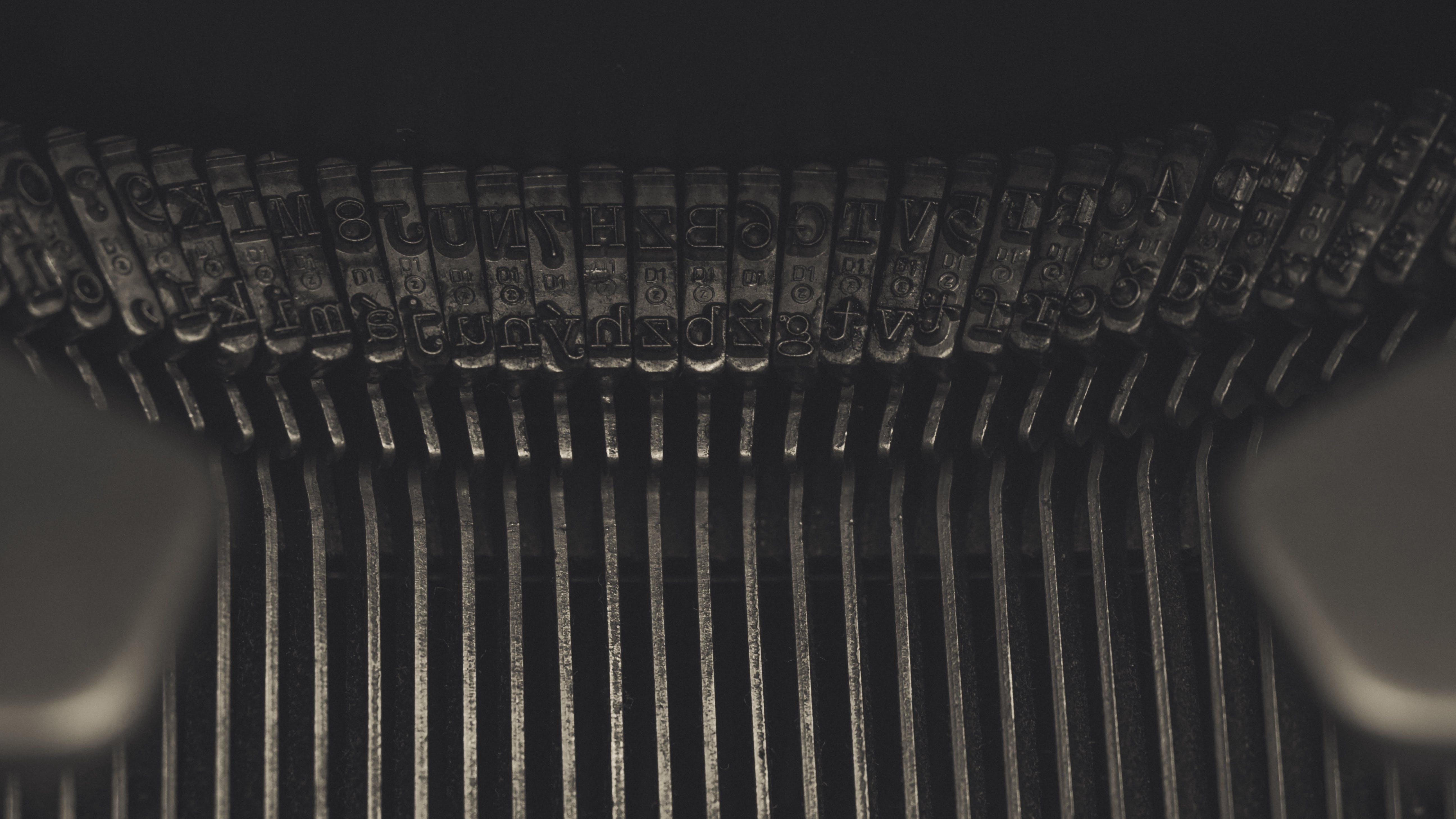 Close-up Photo of Typewriter