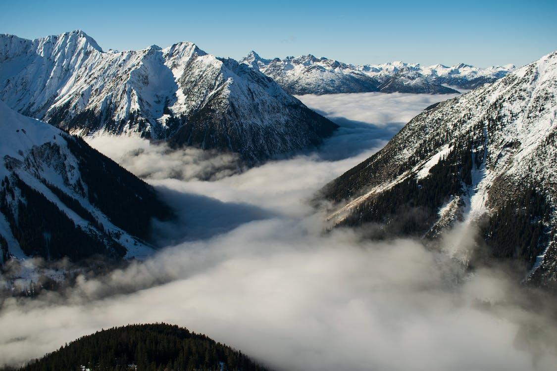 alps, ánh sáng ban ngày, bắn góc cao