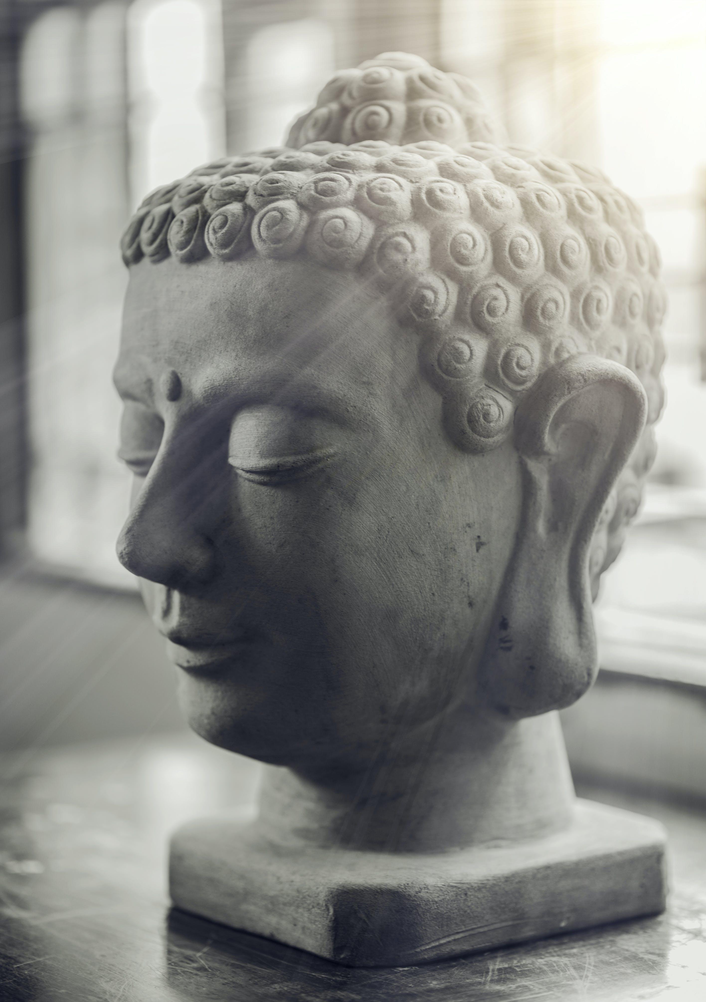 Selective Focus of Gautama Buddha Bust
