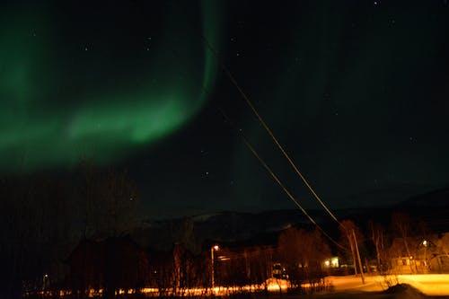 Δωρεάν στοκ φωτογραφιών με aurora borealis, Νορβηγία, Νύχτα, χειμώνας