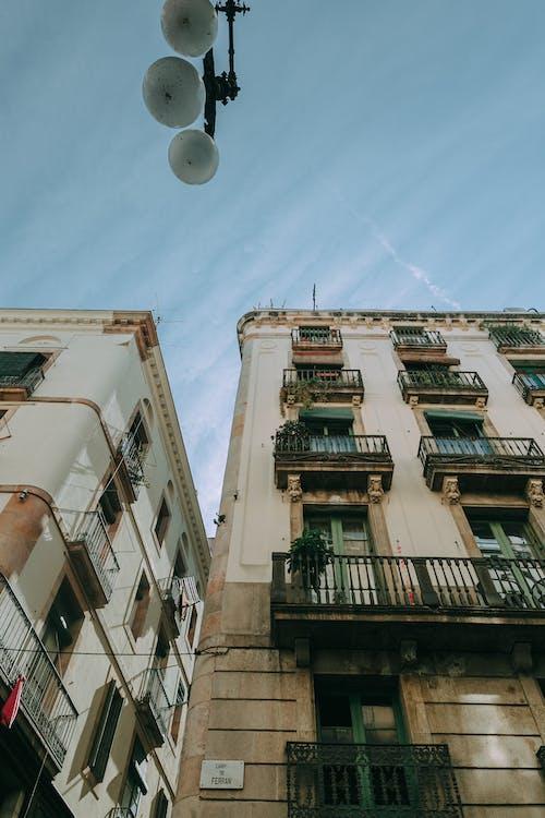 低角度拍攝, 公寓, 城市, 城鎮 的 免費圖庫相片