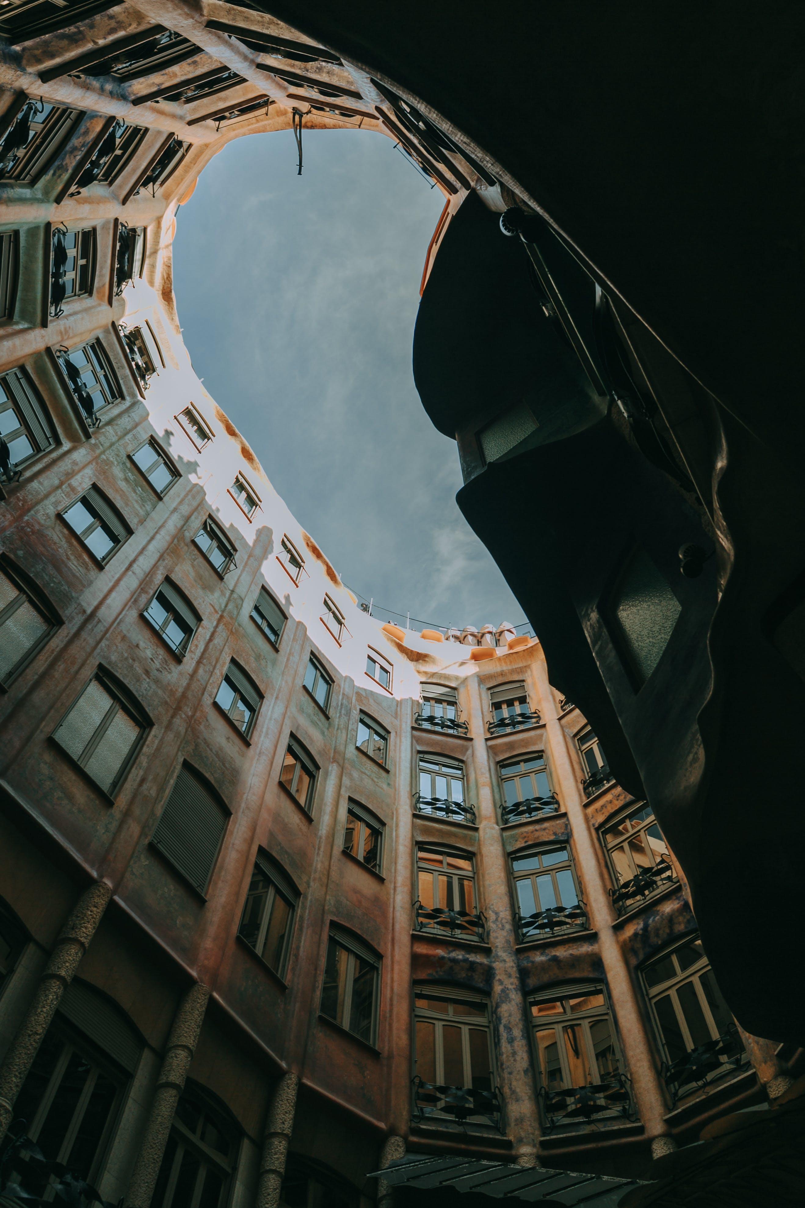 architektur, aufnahme von unten, draußen