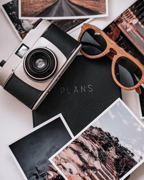 คลังภาพถ่ายฟรี ของ blacknotebook, กระดาษ, กล้องวินเทจ