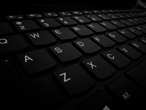Closeup Photo of Black Computer Keyboard's Left Side Keys