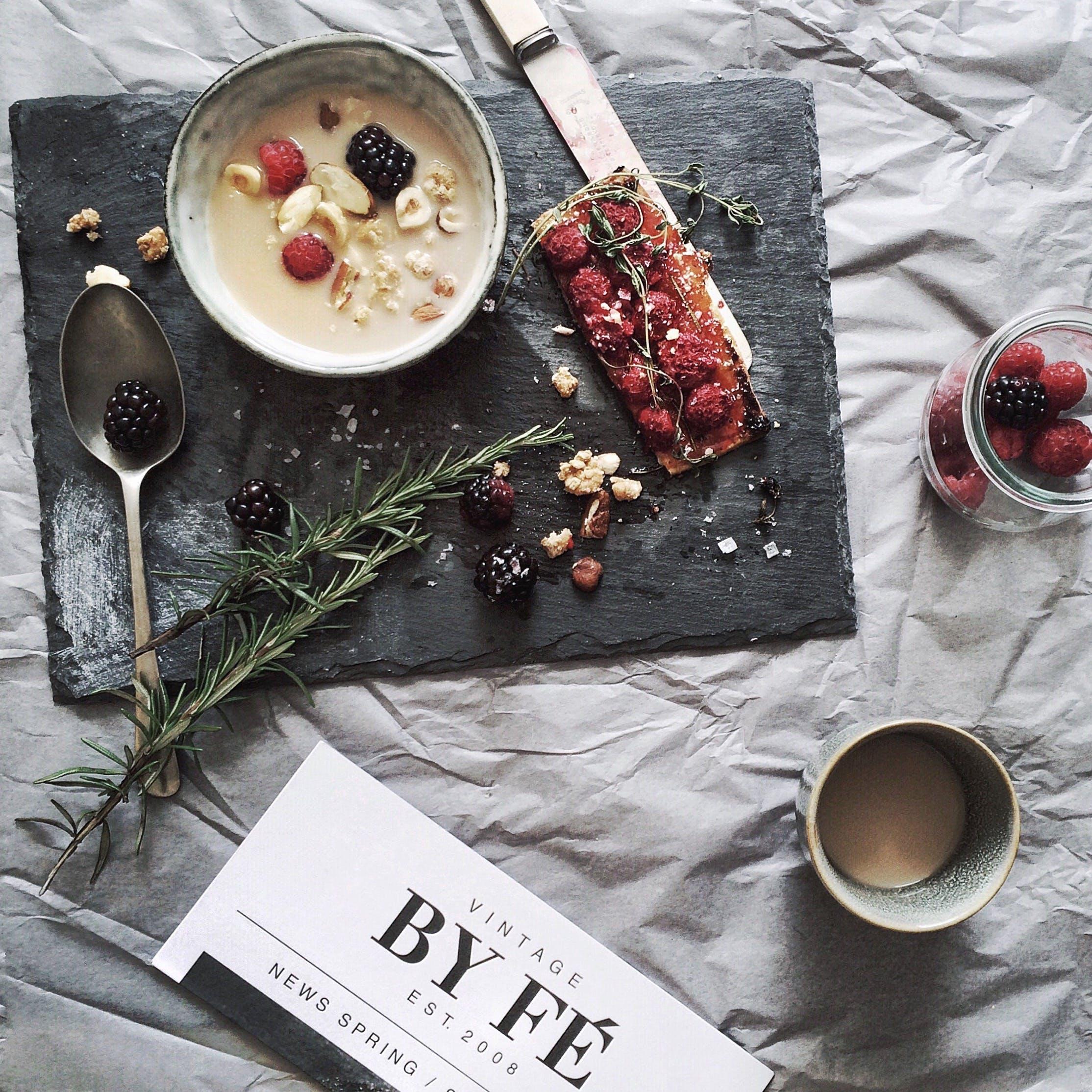 Foto d'estoc gratuïta de àpat, baies, beguda, Blackberries