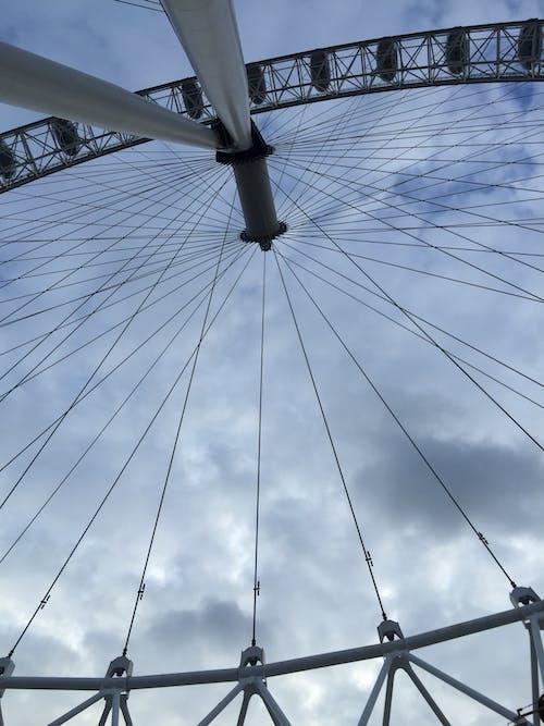 구름, 런던, 런던 아이, 푸른 하늘의 무료 스톡 사진