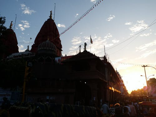 Free stock photo of delhi temple, hindu temple, silhouette