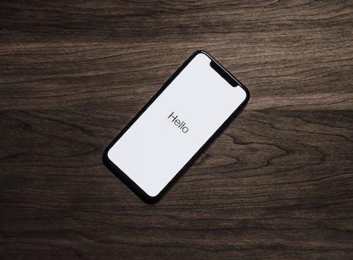 Iphone 7 Nero Sul Tavolo Marrone