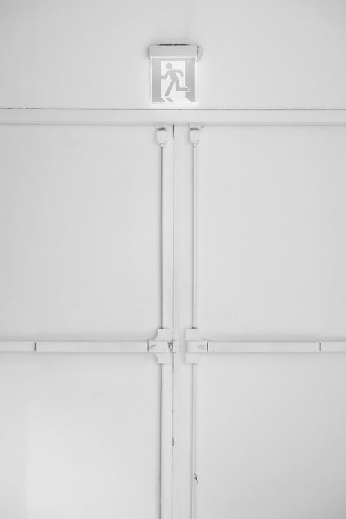 White Wooden Cabinet With Handle