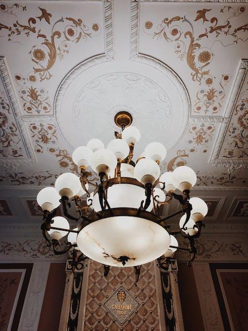 光, 光線, 內部, 吊燈 的 免費圖庫相片