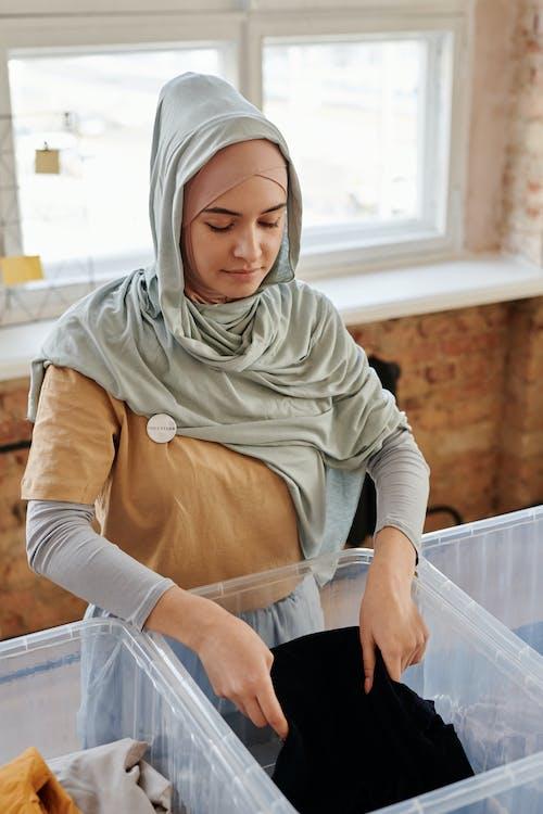 Foto stok gratis amal, jilbab, pakaian