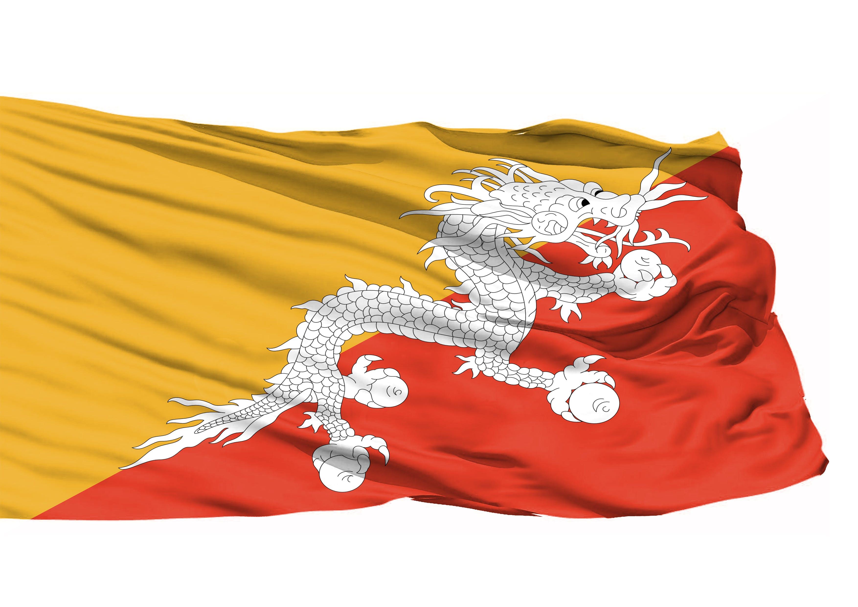 Kostenloses Stock Foto zu bhutan 3d flagge