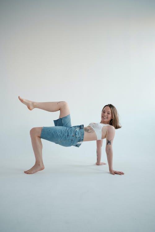 Gratis stockfoto met aangenaam, ardha purvottanasana, been omhoog
