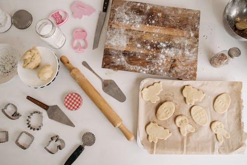 Gratis stockfoto met cookies, deeg, deeg kneden