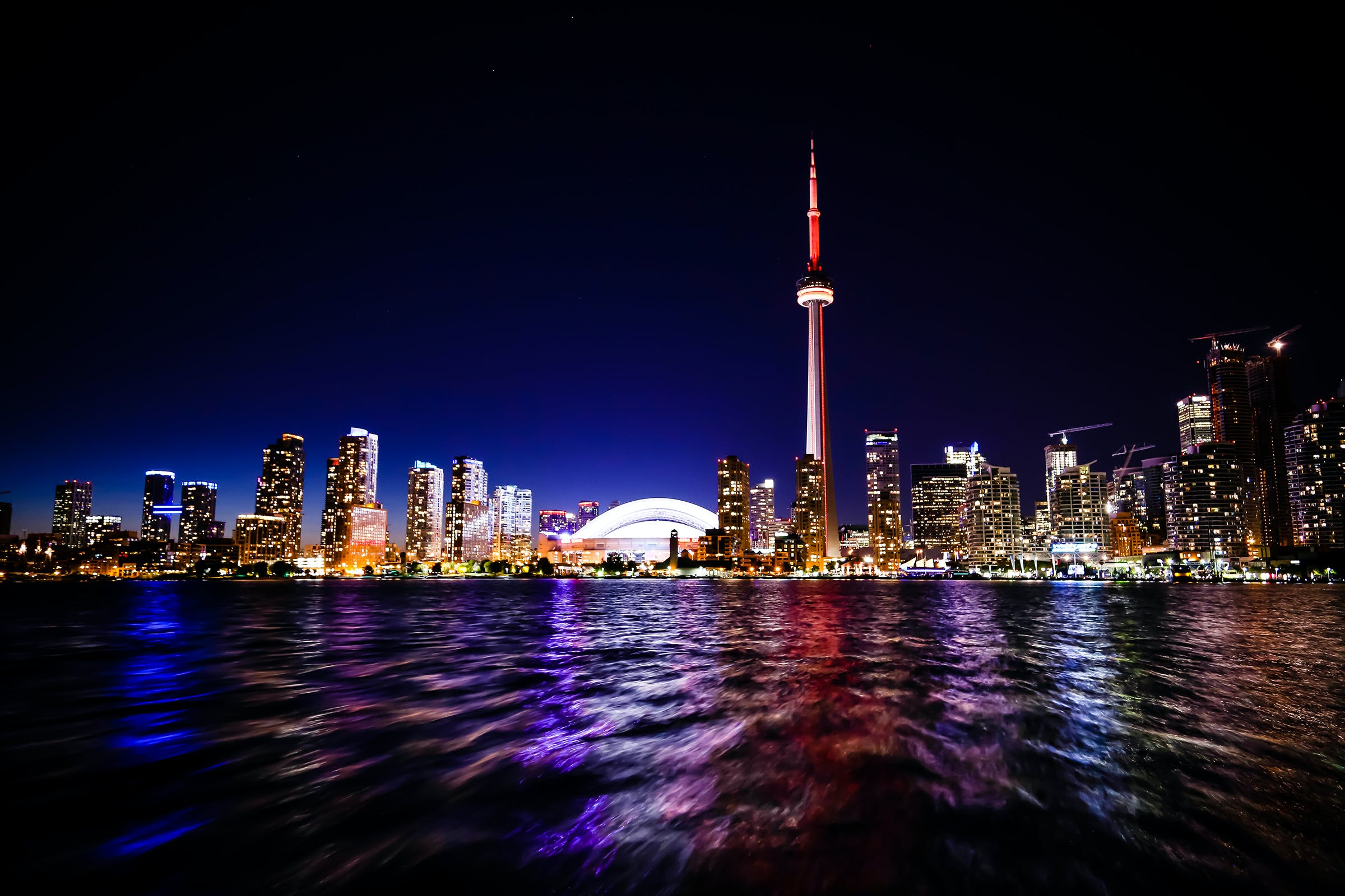 Cn Tower in Toronto Canada at Night