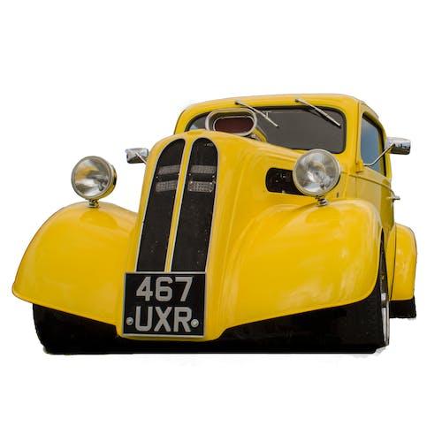 Free stock photo of car, drag car, yellow car