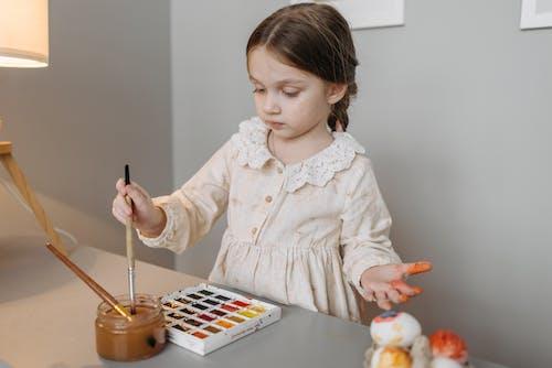 女孩, 容器, 水彩 的 免费素材图片