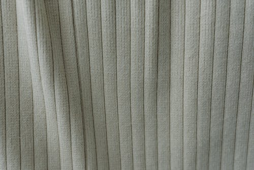 Soft gray fabric placed on table